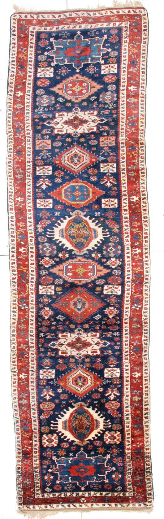 6453 antique Kazak rug runner