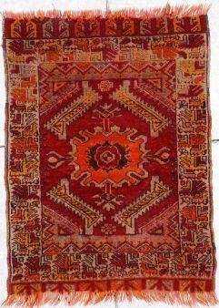 Yastic Turkish antique Rug