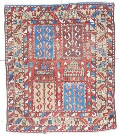 6733 Shirvan antique rug