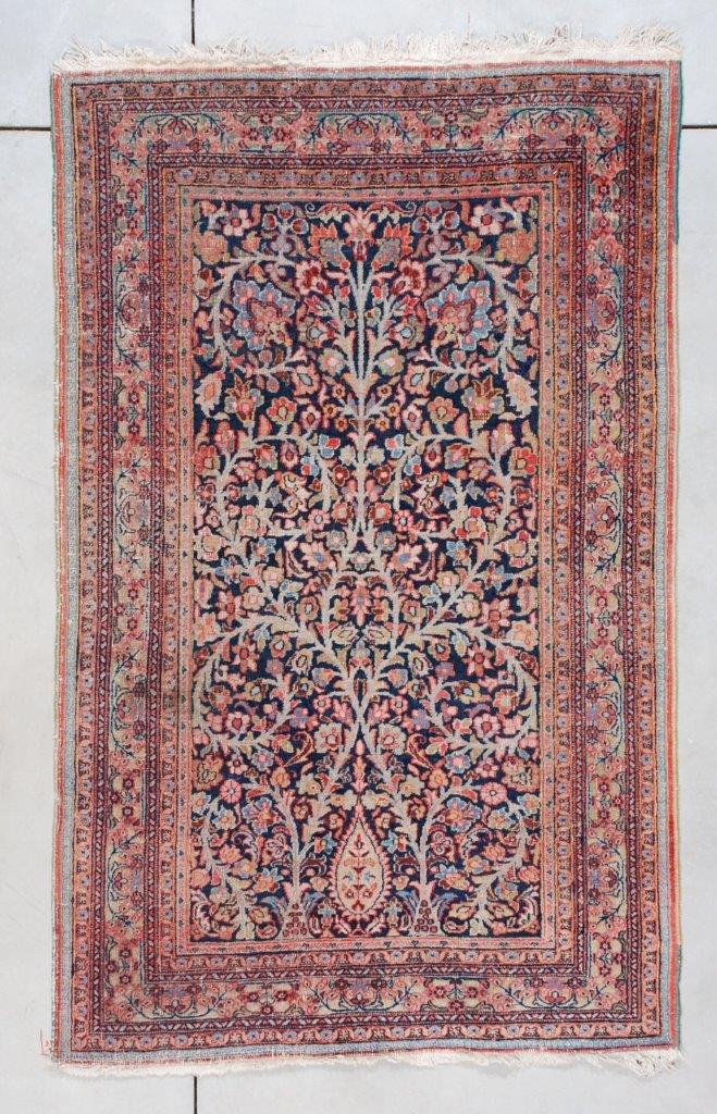 7427 Meshed Antique Persian Rug 4 4 X 6 11 Antique Oriental Rugs