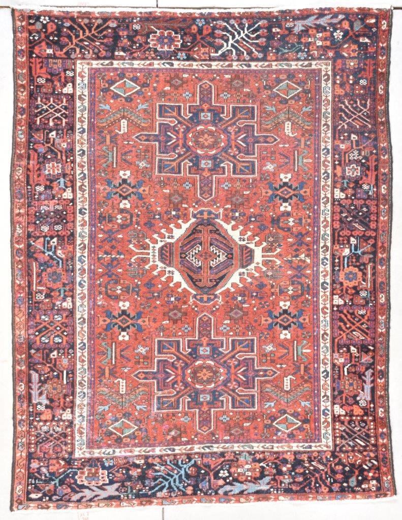 7725 Antique Karaja Persian Rug