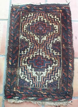 5508 small antique baluch rug