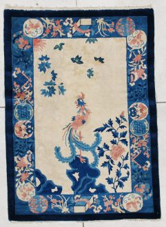6381 art deco Chinese Peking weave rug