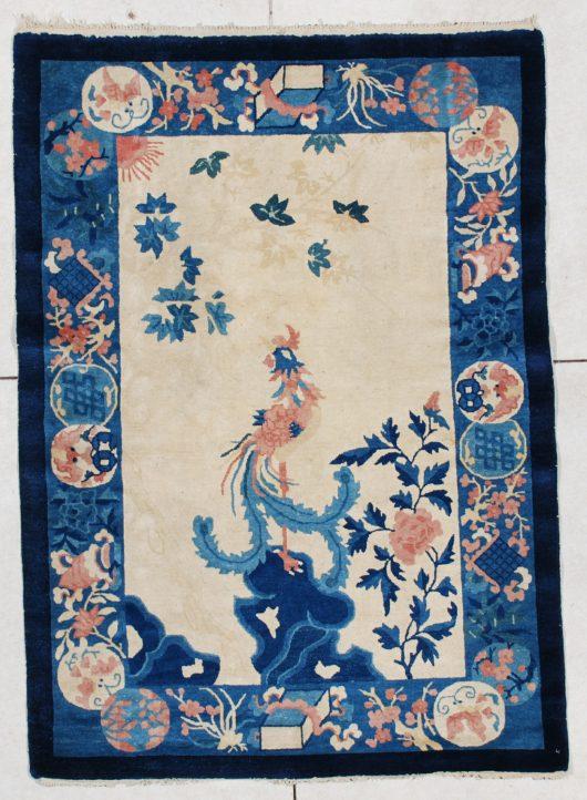 6381 art deco Chinese Peking weave rug