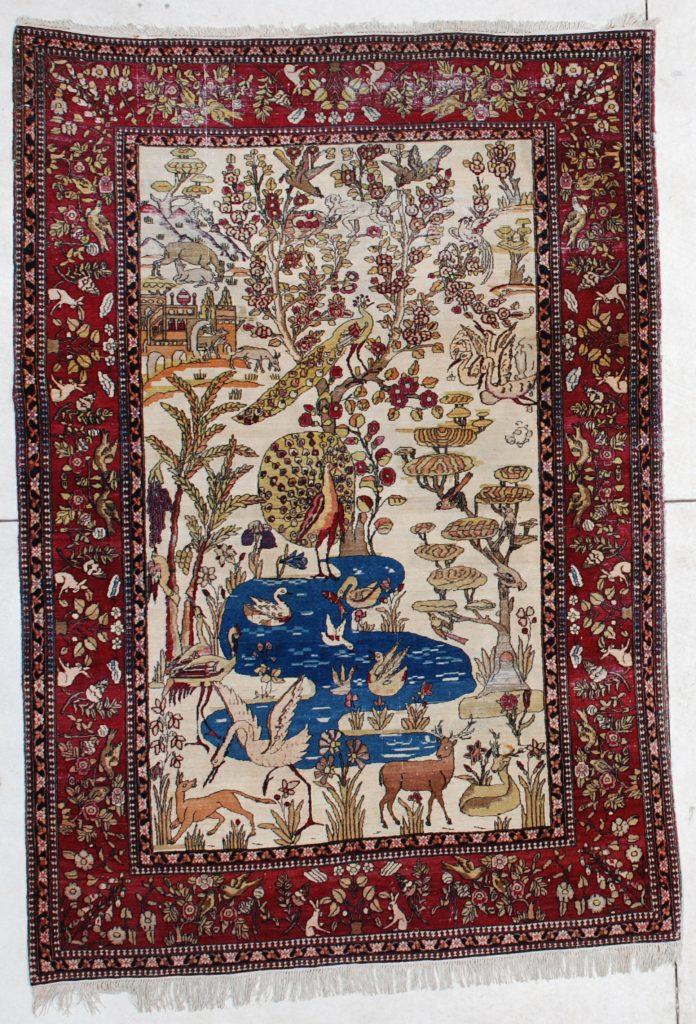 6450 Laver Kerman Persian Antique Rug 4 6 Quot X 6 5