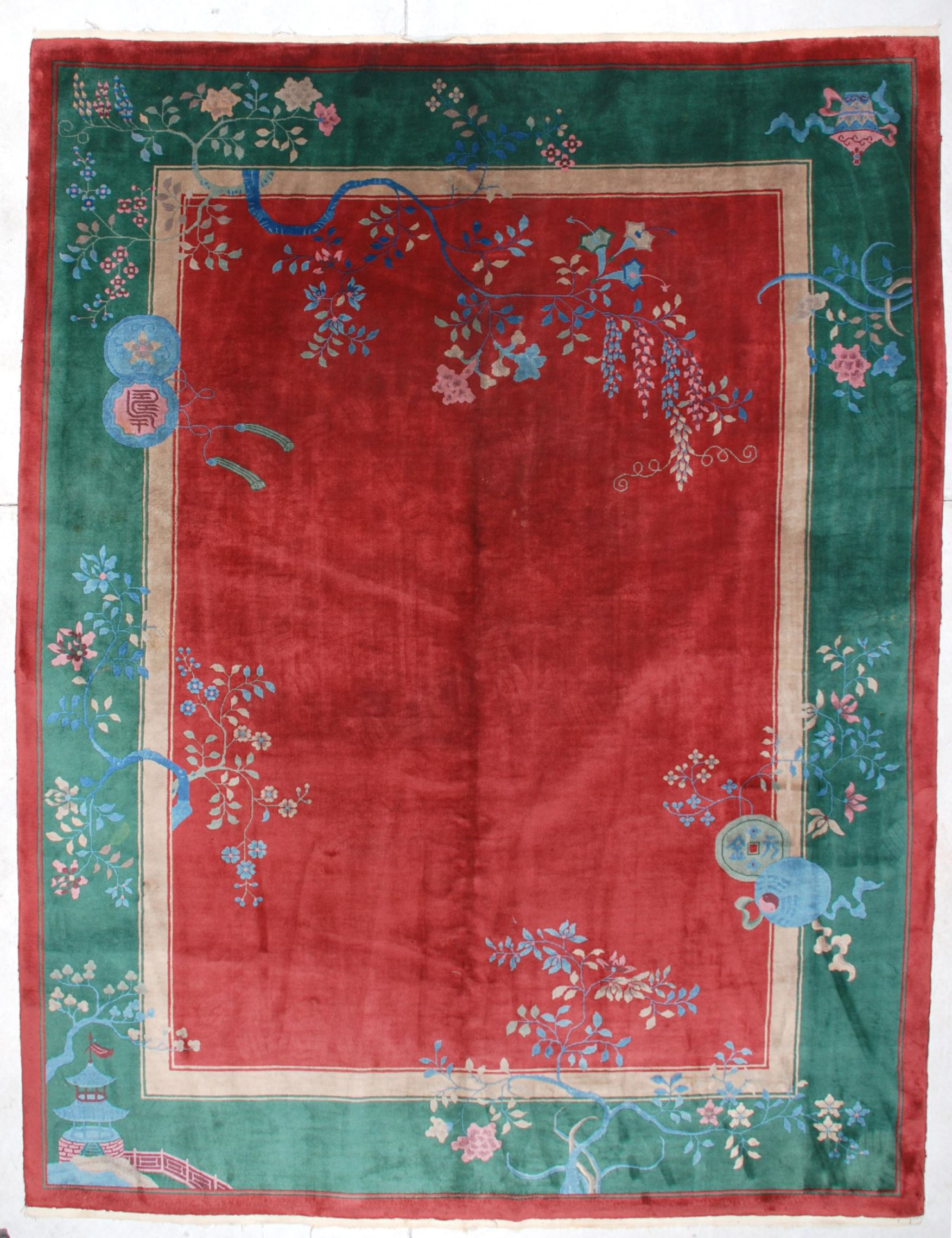 292076cf7830 6685 Antique Art Deco Chinese Rug 8 9