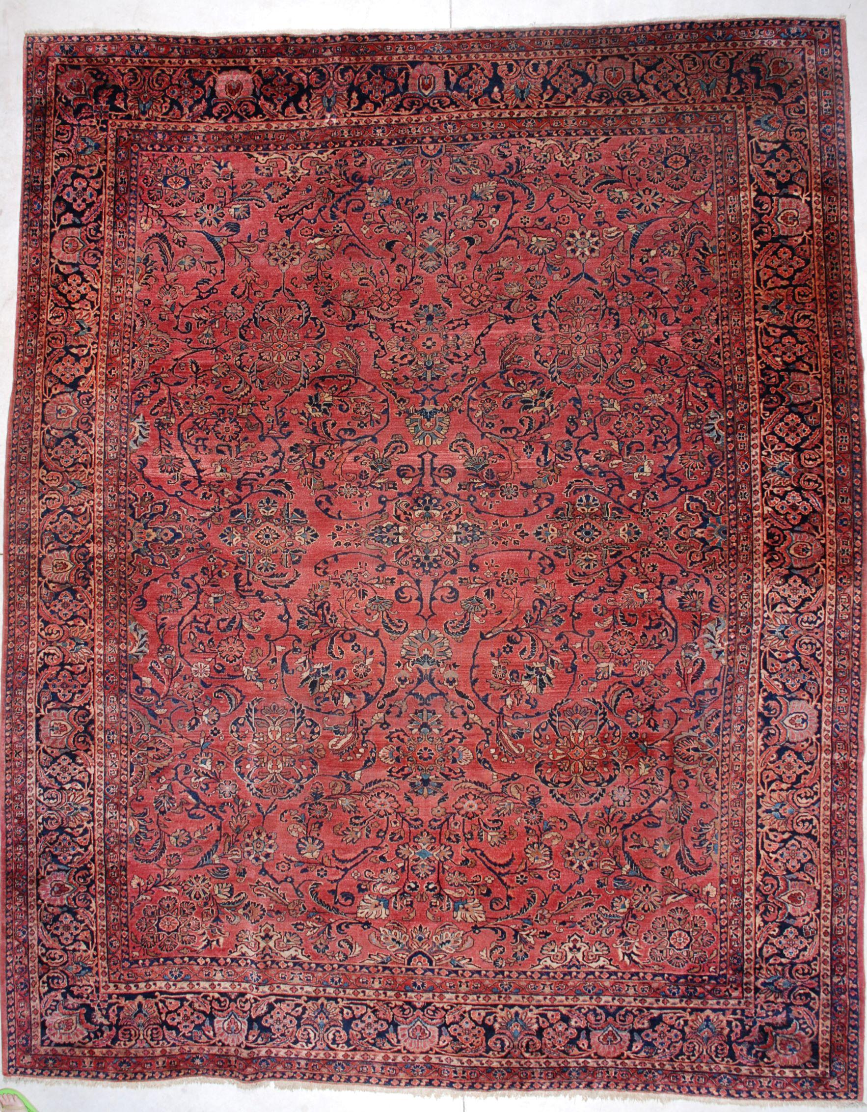 6718 Sarouk Antique Persian Rug 10'10