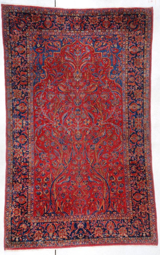 6965 Antique Kashan Persian Rug 4 2 X