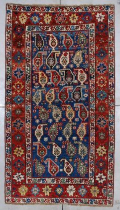7055 Kazak antique rug