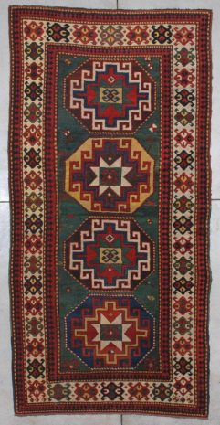 7198 Kazak antique rug