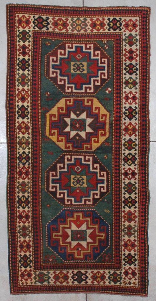 7198 Kazak antique rug