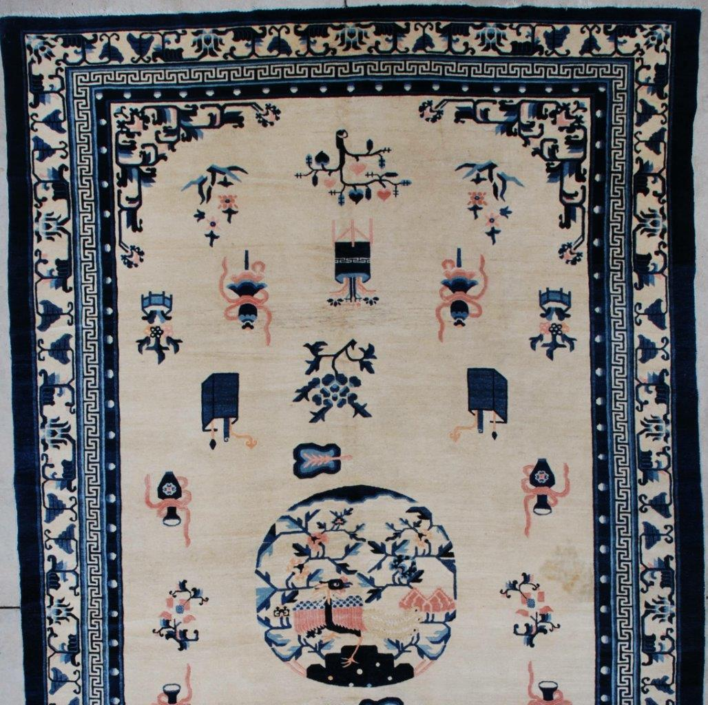 7263 Antique Peking Chinese Rug 7 2 X 12 1 Antique Oriental Rugs
