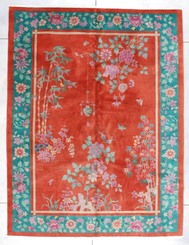 cd530d64eb3b 7317 Antique Art Deco Chinese Rug 8 9