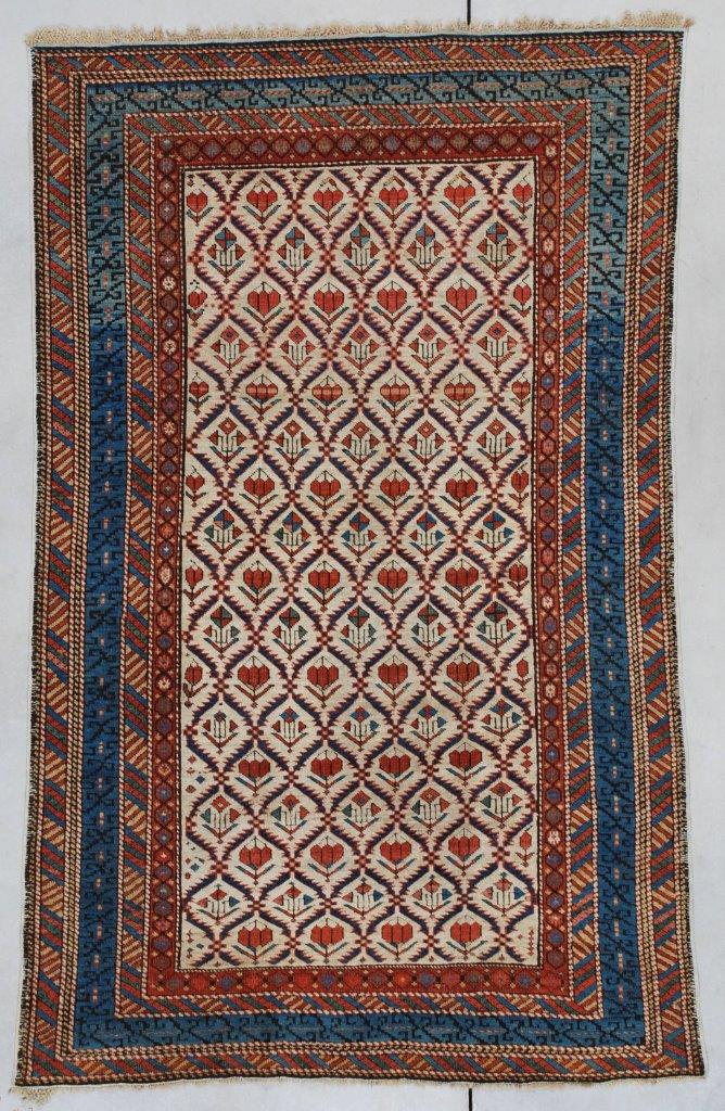 7347 Kuba Shirvan Antique Caucasian Rug