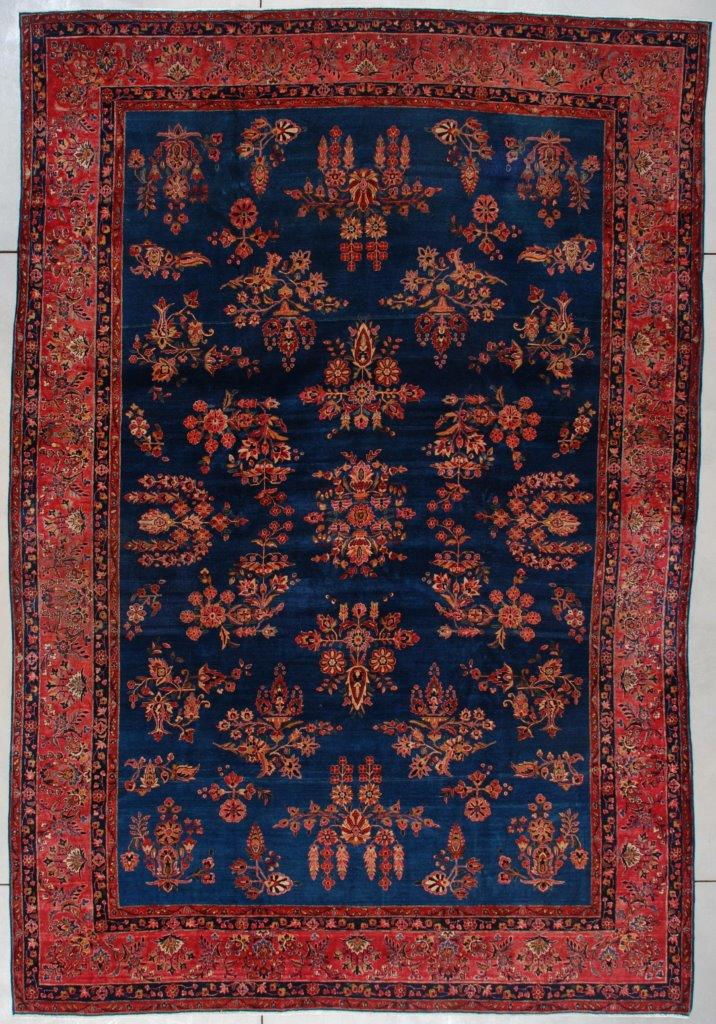 7448 Antique Kashan Persian Rug 8 11 X