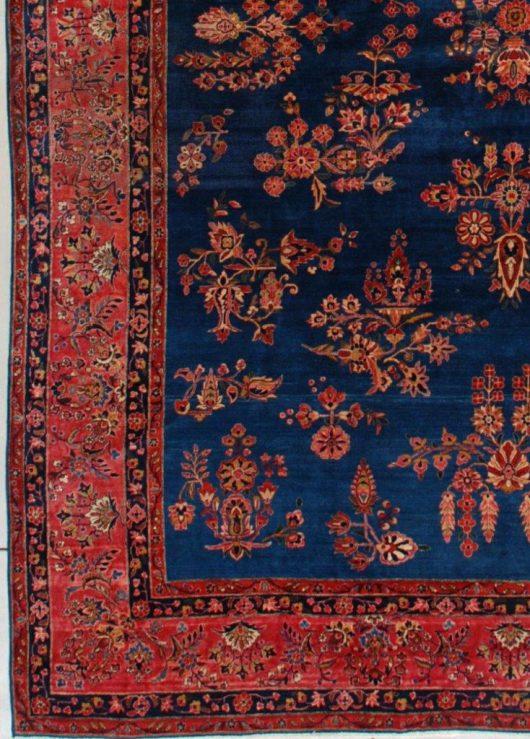 7448 Kashan rug closeup
