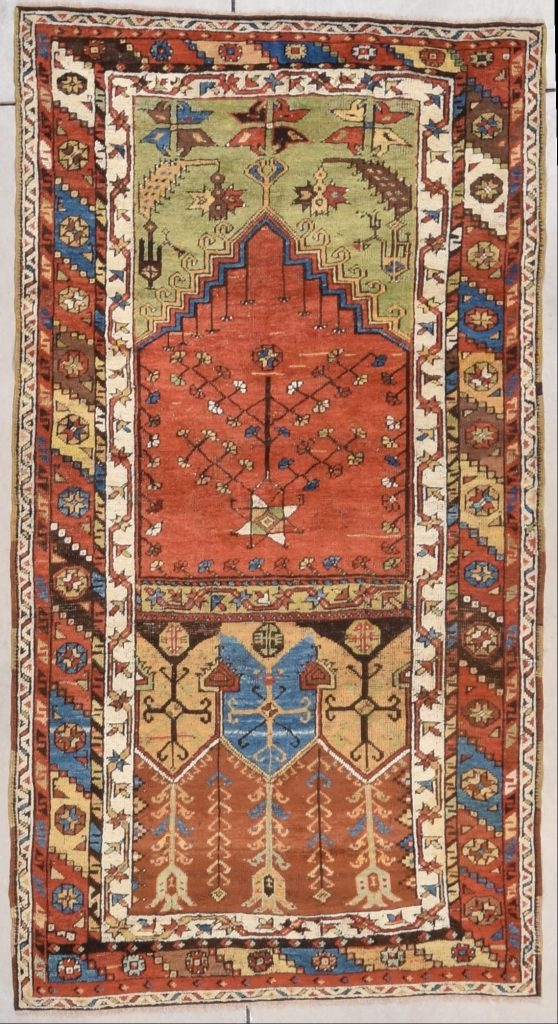 7465 Konya Ladik Antique Turkish Rug 3 6 Quot X 6 3
