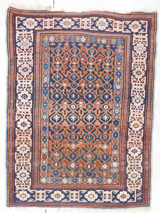 7554 Kuba antique rug