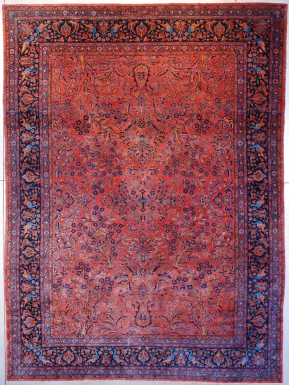 7616 Kashan Antique Persian Rug 9 10 X