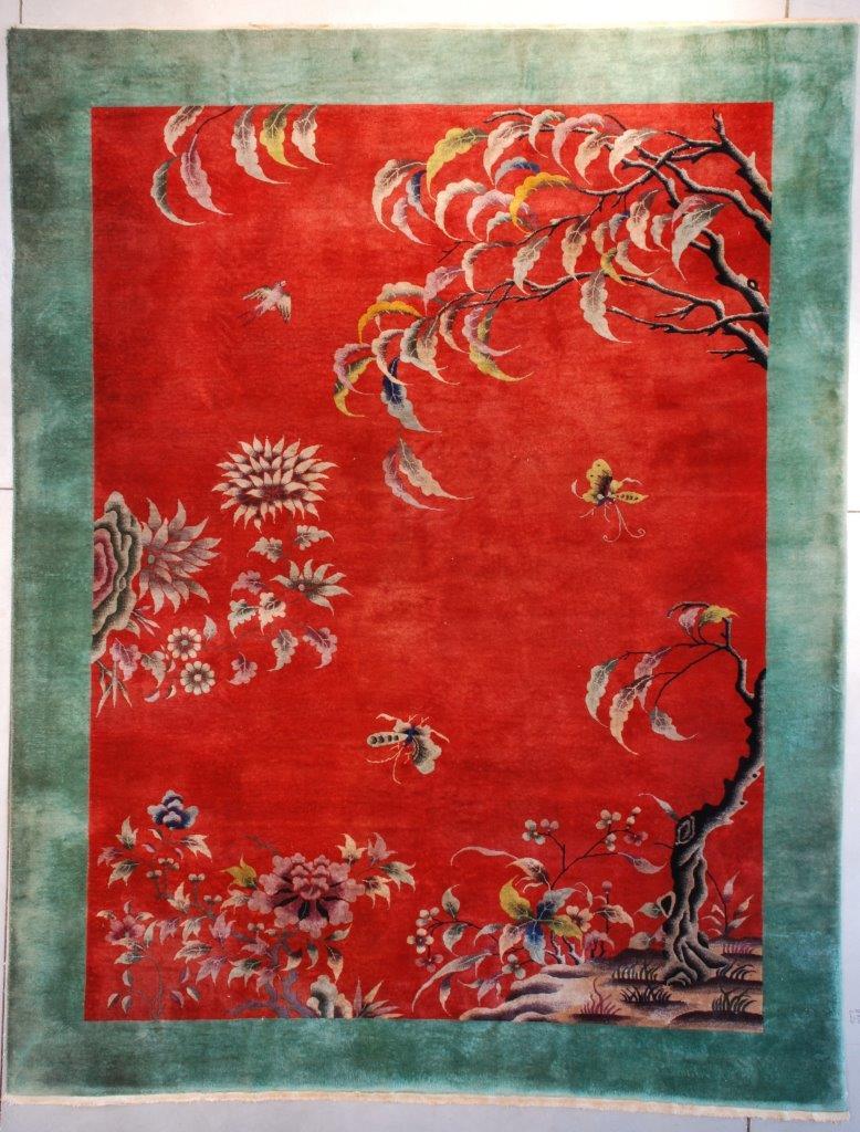 7632 Antique Art Deco Chinese Rug 8 7