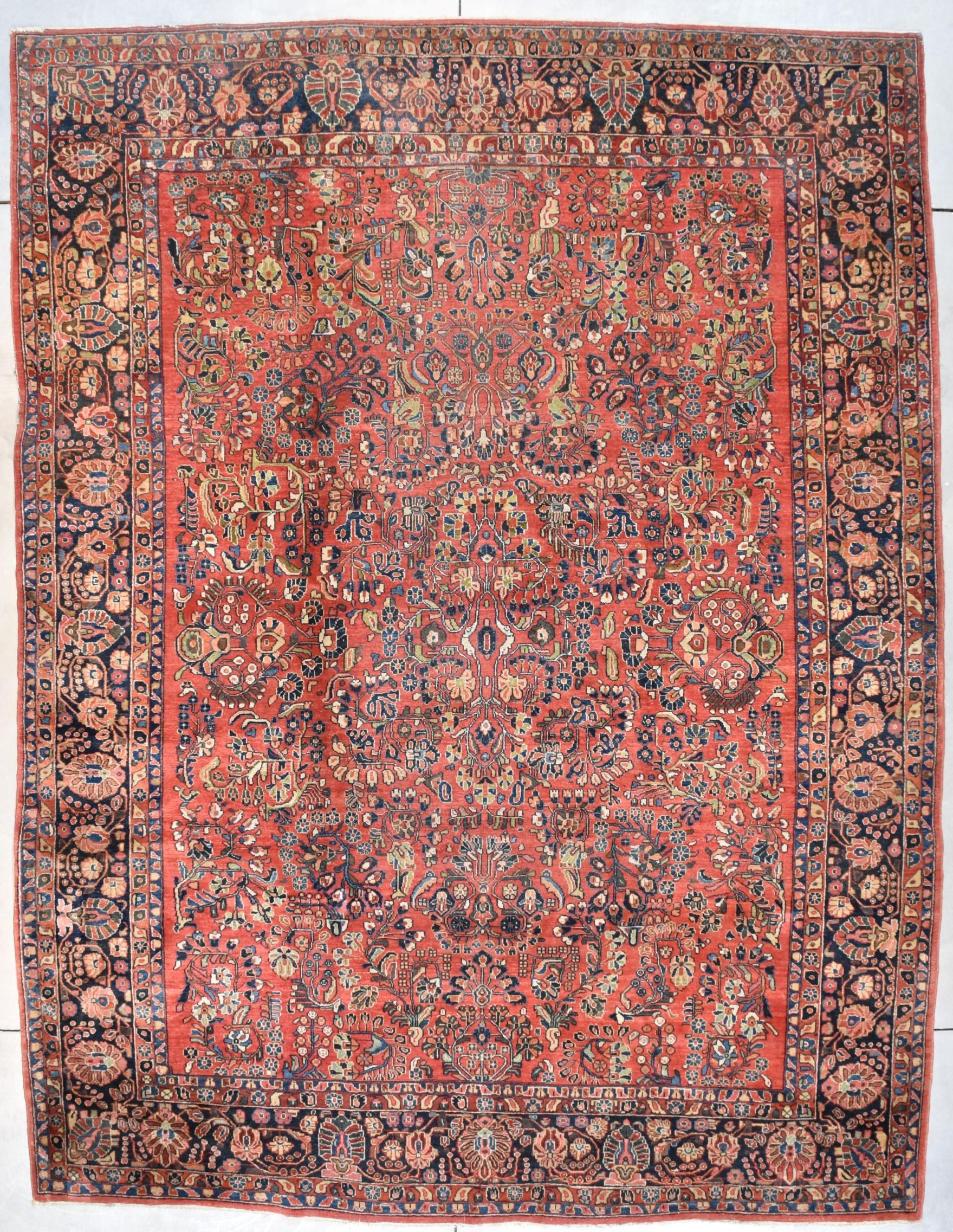 7698 Sarouk Antique Persian Rug 9 0 X 11