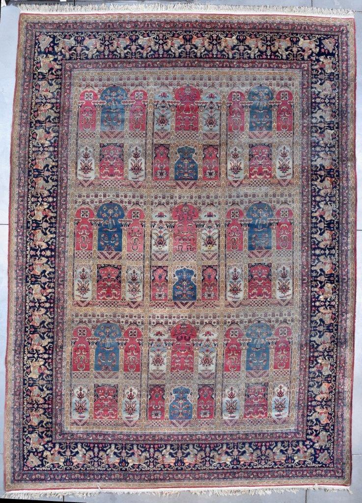 7754 Laver Kerman Antique Persian Rug 11 6 Quot X 15 10