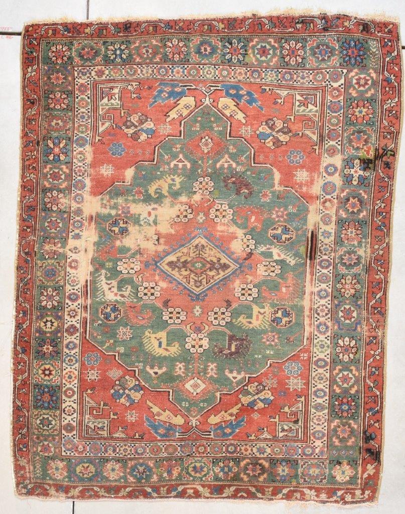 7786 Dazkiri Antique Turkish Rug 4 3 X 5 5 Antique Oriental Rugs