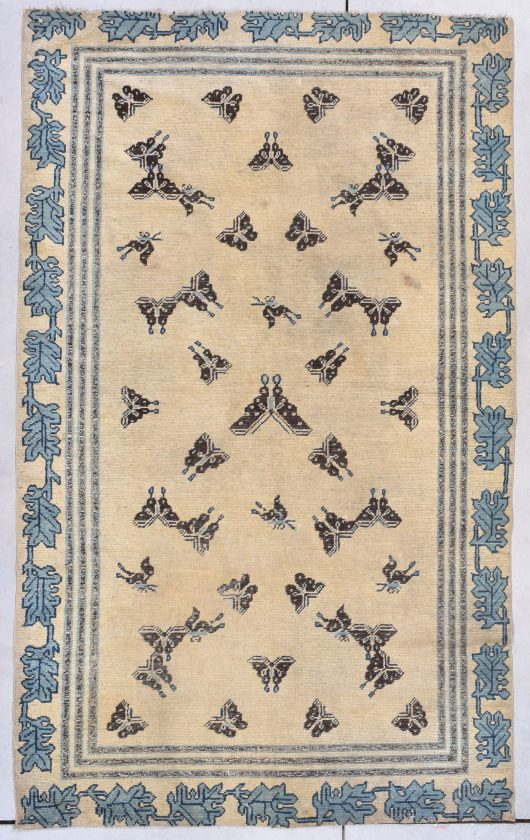 very antique ningxia chinese rug image