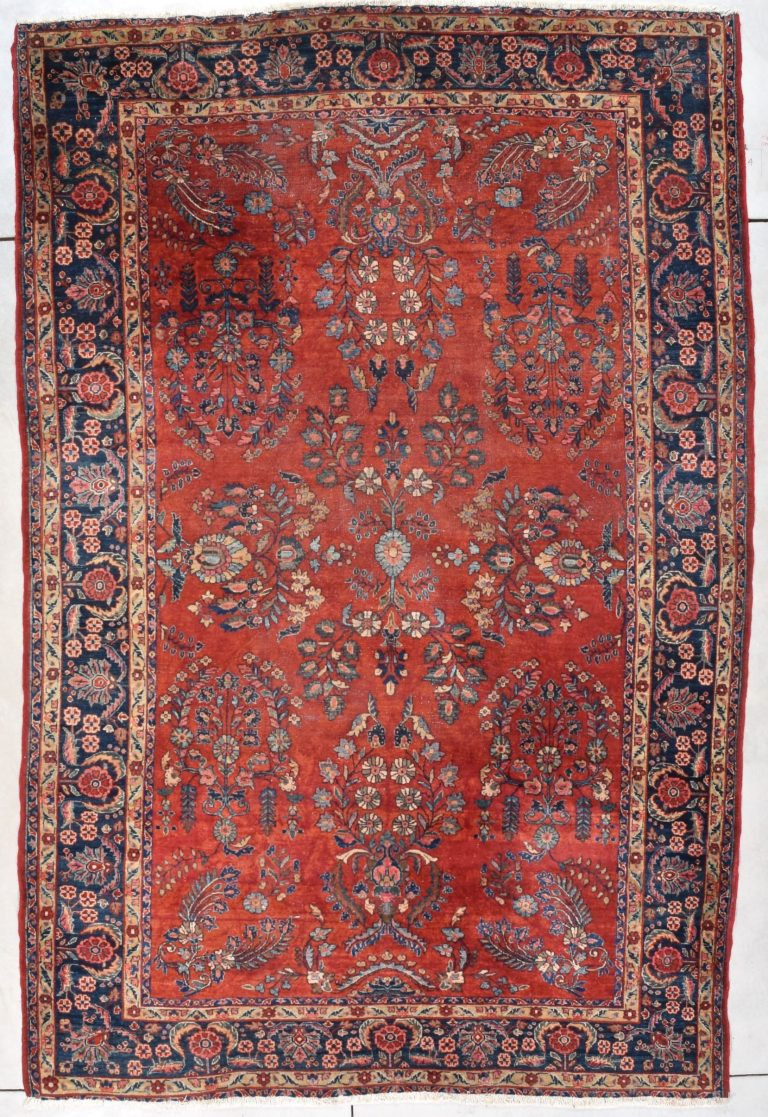Antique Persian Sarouk Oriental Rug 7 10 X 10 4 7842