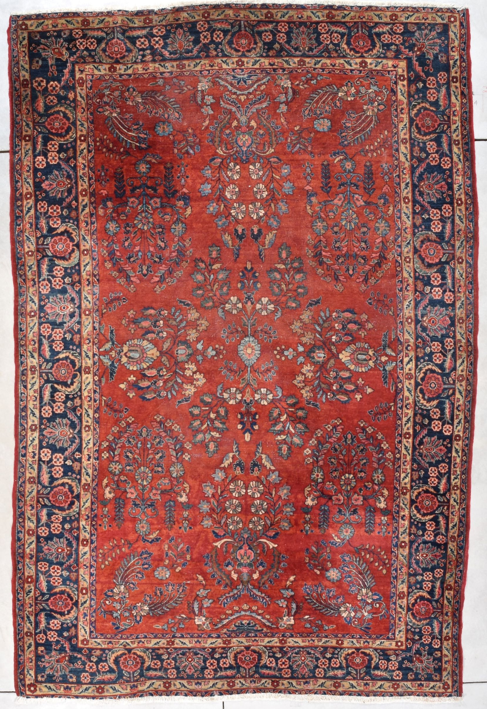 Antique Persian Sarouk Oriental Rug 7