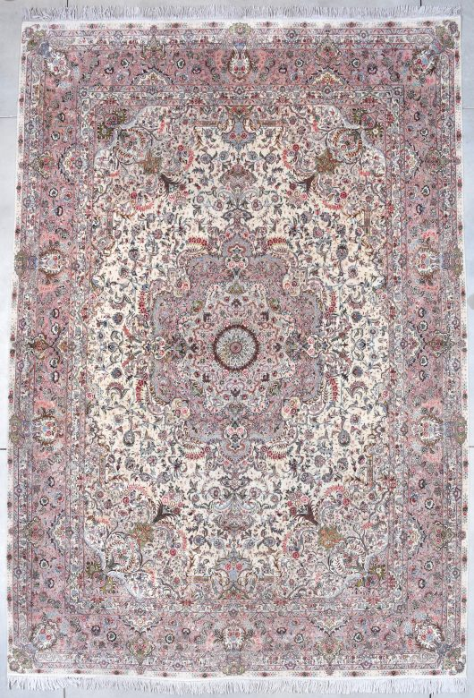7848 tabriz carpet with silk image