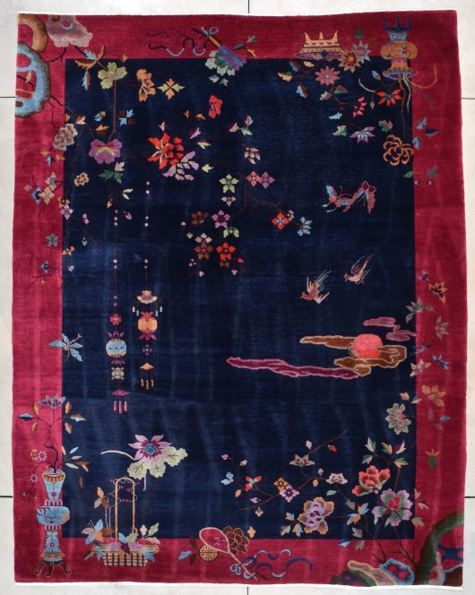 Vintage 1920's Art Deco Chinese rug image 7856