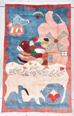 7867 vintage french rug image
