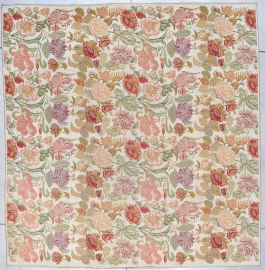 7876 European chain stitch French rug