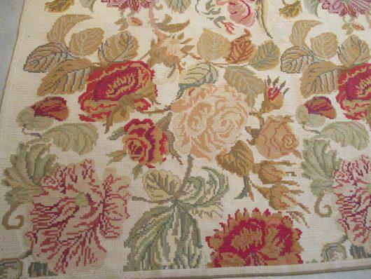 7876 French chainstitch carpet closeups