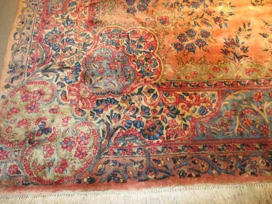 7918 kerman oriental rug close up images
