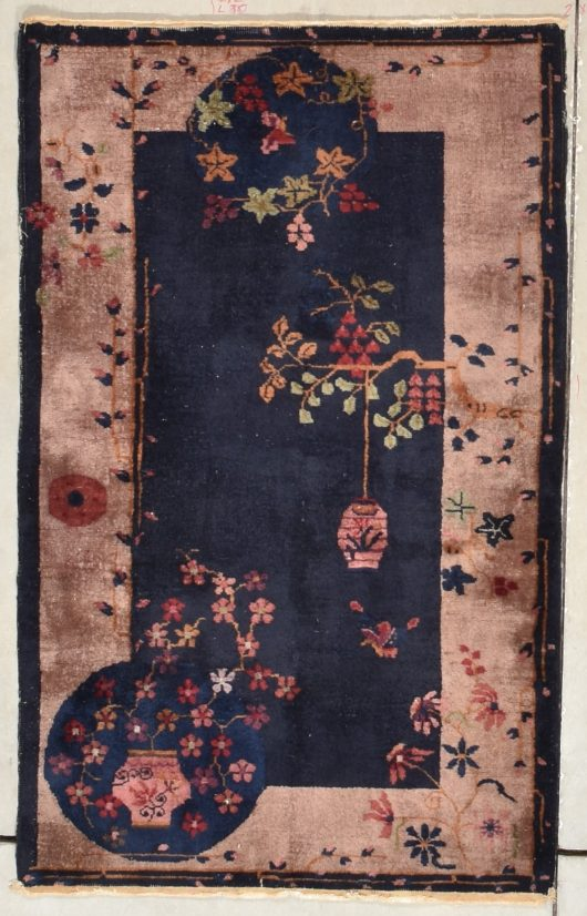 vintage chinese art deco rug image
