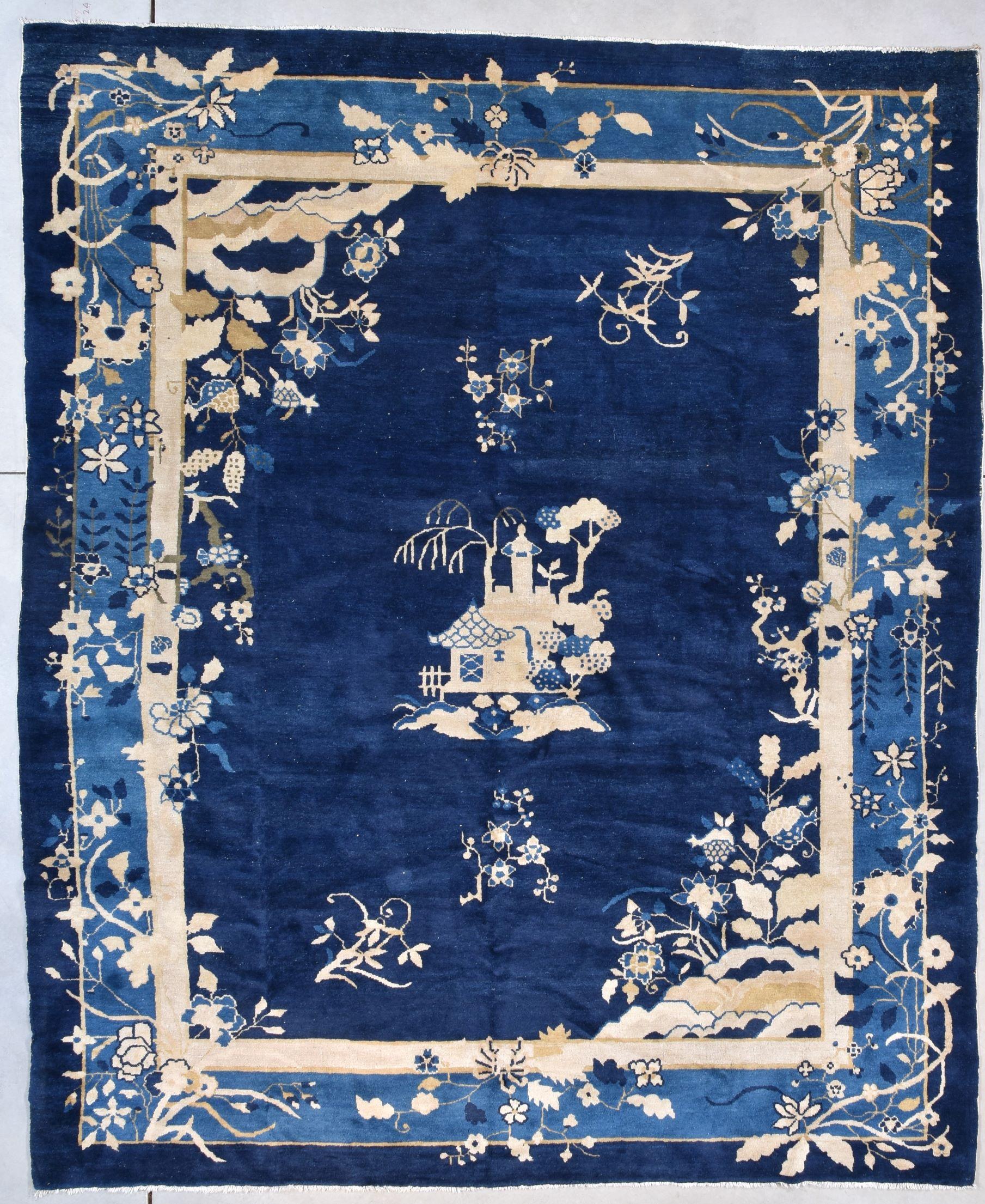 antique peking chinese carpet image
