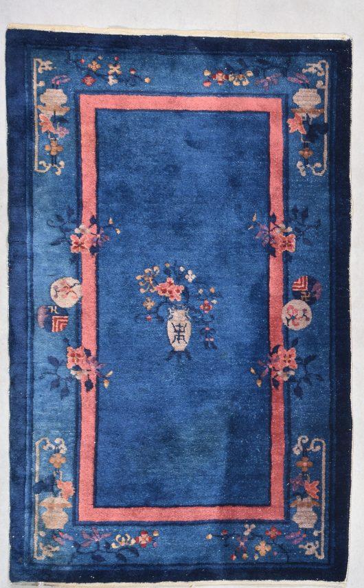 Peking chinese rug image in art deco design