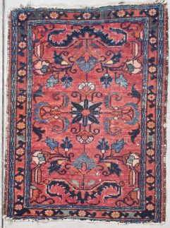 antique small hamadan persian rug image