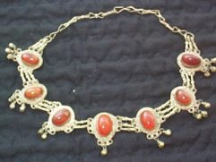 Afghan carnelian choker necklace