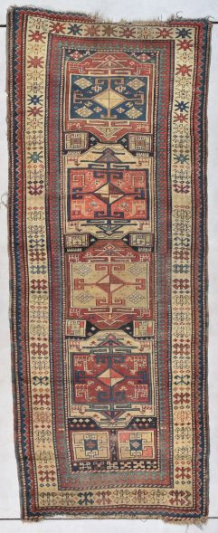 antique Kazak runner rug picture
