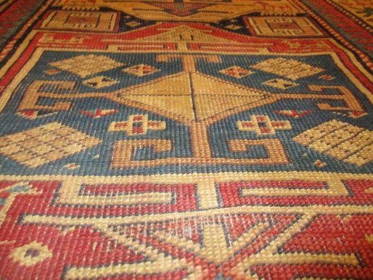 7991 kazak runner rug weave close up images