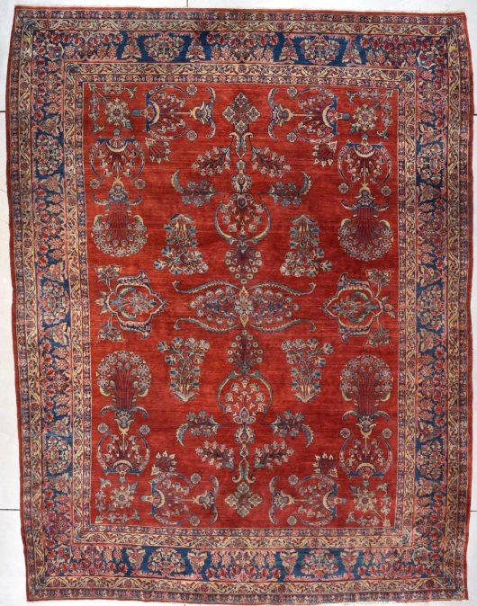 antique mahajaran sarouk rug image