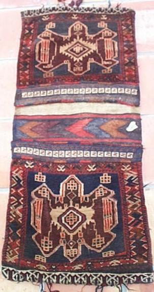 Baluch saddlebags rug
