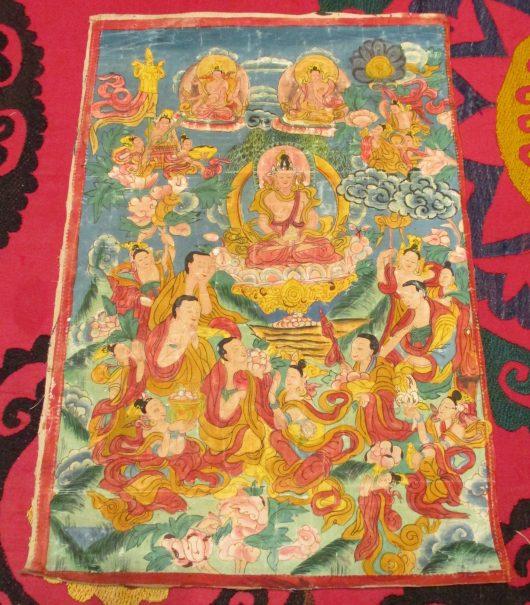 6296 thangka from tibet image