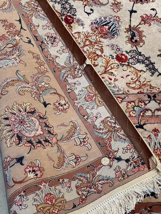 8002 Tabriz rug with silk detail images