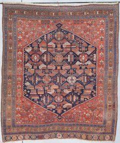 8025 old Afshar rug