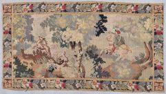 8035 antique flemish tapestry hunting scene