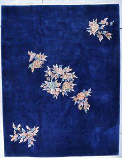 8037 art deco chinese rug royal blue nichols carpet